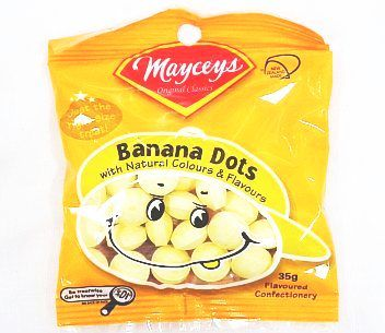 Mayceys Banana Dots 35g