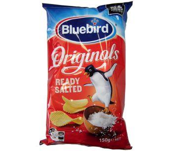 Bluebird Ready Salted Original Cut Chips 150g