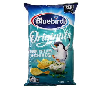 Bluebird Sour Cream and Chives Original Cut Chips 150g