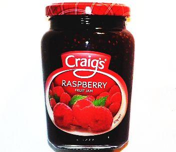 Craigs Raspberry Jam 375g