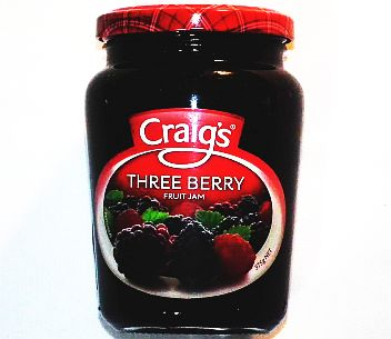 Craigs Three Berry Jam 375g