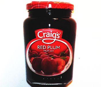 Craigs Red Plum Jam 375g