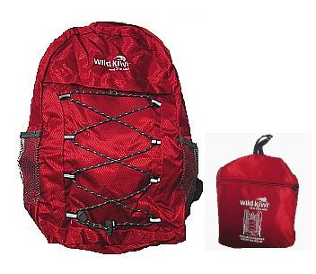 Wild Kiwi Packable Backpack Red