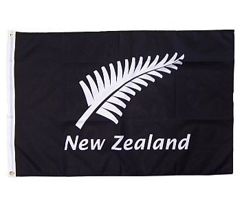 Flag Silver Fern and New Zealand 150x90cm