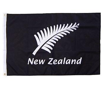Flag Silver Fern and New Zealand 90x60cm