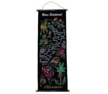Wall Scroll NZ Flowers