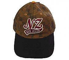New Zealand Cap with NZ and Checkers