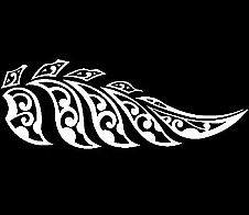 Maori Style Fern White Car Sticker