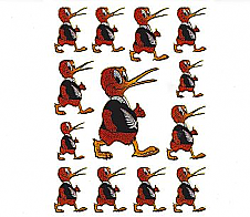 Laser Stickers Kiwi Bird in Silver Fern Tee