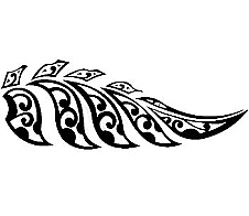 Maori Style Fern Black Car Sticker