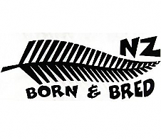 NZ Born and Bred Black Car Sticker