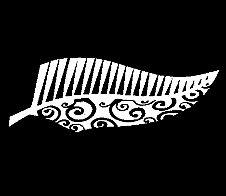 Half Half Fern White Car Sticker