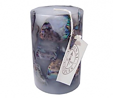 Paua Candle Small Cylinder