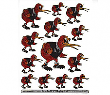 Laser Stickers Rugby Kiwi Bird