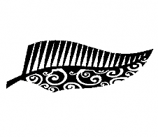 Half Half Fern Black Car Sticker