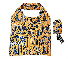 Reusable New Zealand Shopping Bag Yellow and Navy