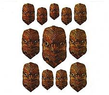 Laser Stickers Maori Mask