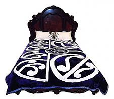Maori Pattern Blue Mink Blanket King