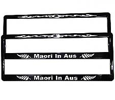 Number Plate Frame Maori in Aus 2pk