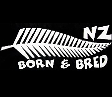 NZ Born and Bred White Car Sticker