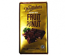 Whittaker's Milk Chocolate Fruit and Nut Block 250g