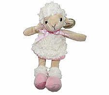 Lamb Doll with Pink Bow