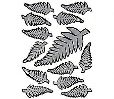 Laser Stickers Silver Fern