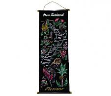Wall Scroll NZ Flowers