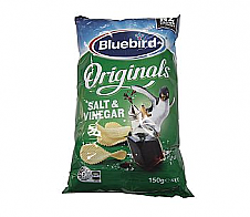Bluebird Salt and Vinegar Original Cut Chips 150g