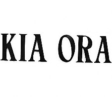 Kia Ora Black Car Sticker