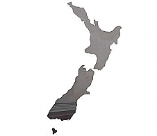 Mirror Map of New Zealand
