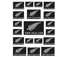 Laser Stickers Silver Fern and New Zealand Flag