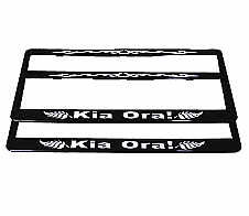 Number Plate Frame Kia Ora! 2pk